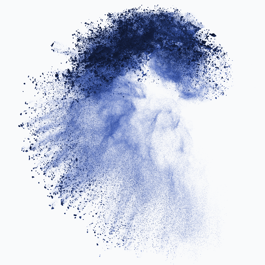 Wolframpulver blau